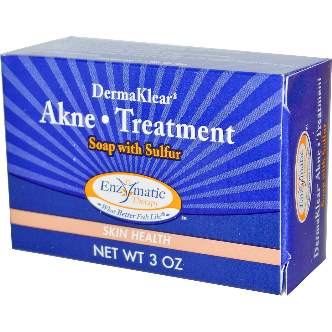 Enzymatic Therapy, DermaKlear Akne Treatment Soap with Sulphur, 3 oz