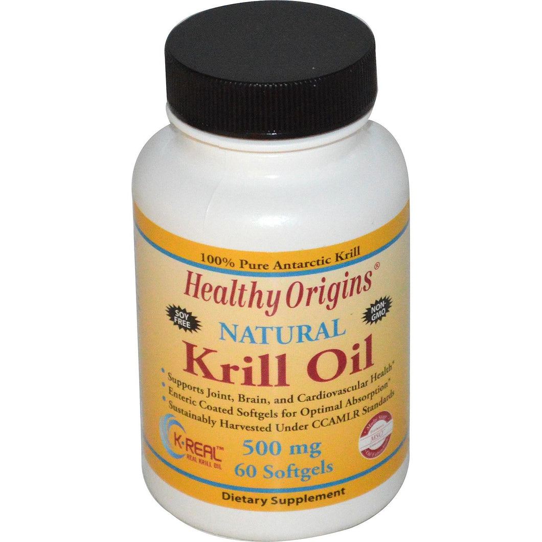 Healthy Origins Krill Oil Natural Vanilla Flavour 500mg 60 Softgels