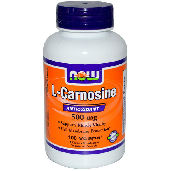 Now Foods L-Carnosine 500mg 100 VCaps - Dietary Supplement