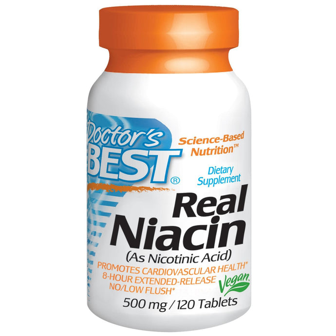 Doctor's Best Real Niacin 500mg  120 Tablets - Dietary Supplement