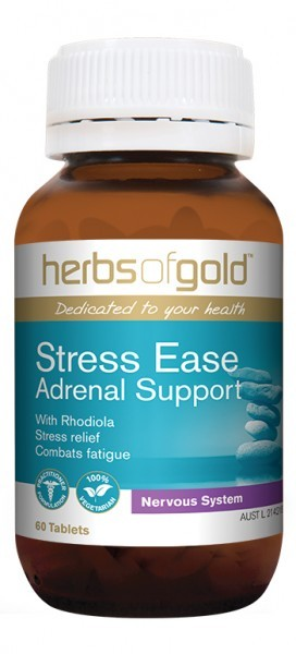 Herbs of Gold, Stress-Ease, Adrenal Support, 60 Tablets