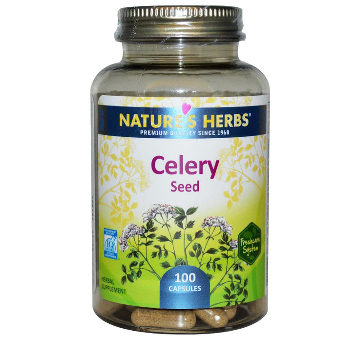 Nature's Herbs, Celery Seed, 100 Capsules - Herbal Supplement