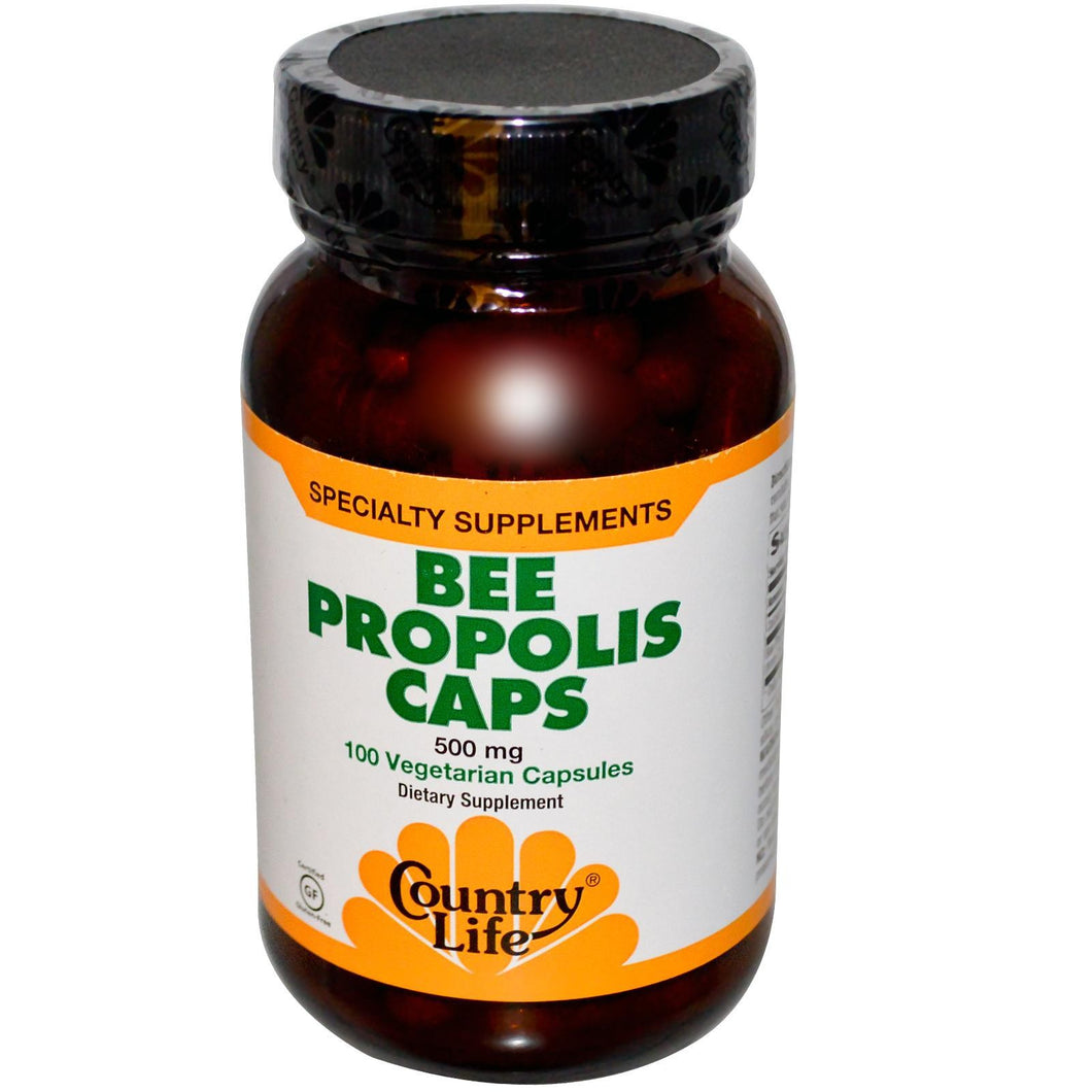 Country Life, Bee Propolis Caps, 500mg, 100 Veggie Caps