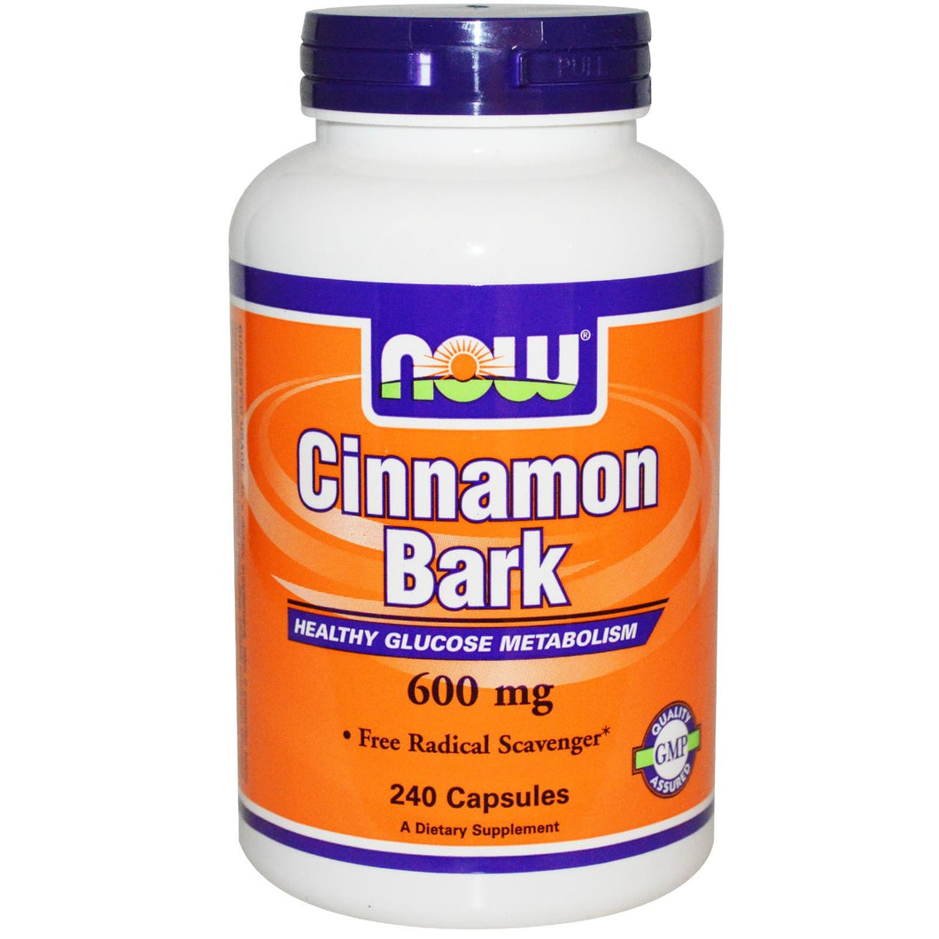 Now Foods, Cinnamon Bark, 600 mg, 240 Capsules - Dietary Supplement