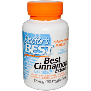 Doctor's Best, Best Cinnamon Extract, 125mg 60 Vcaps