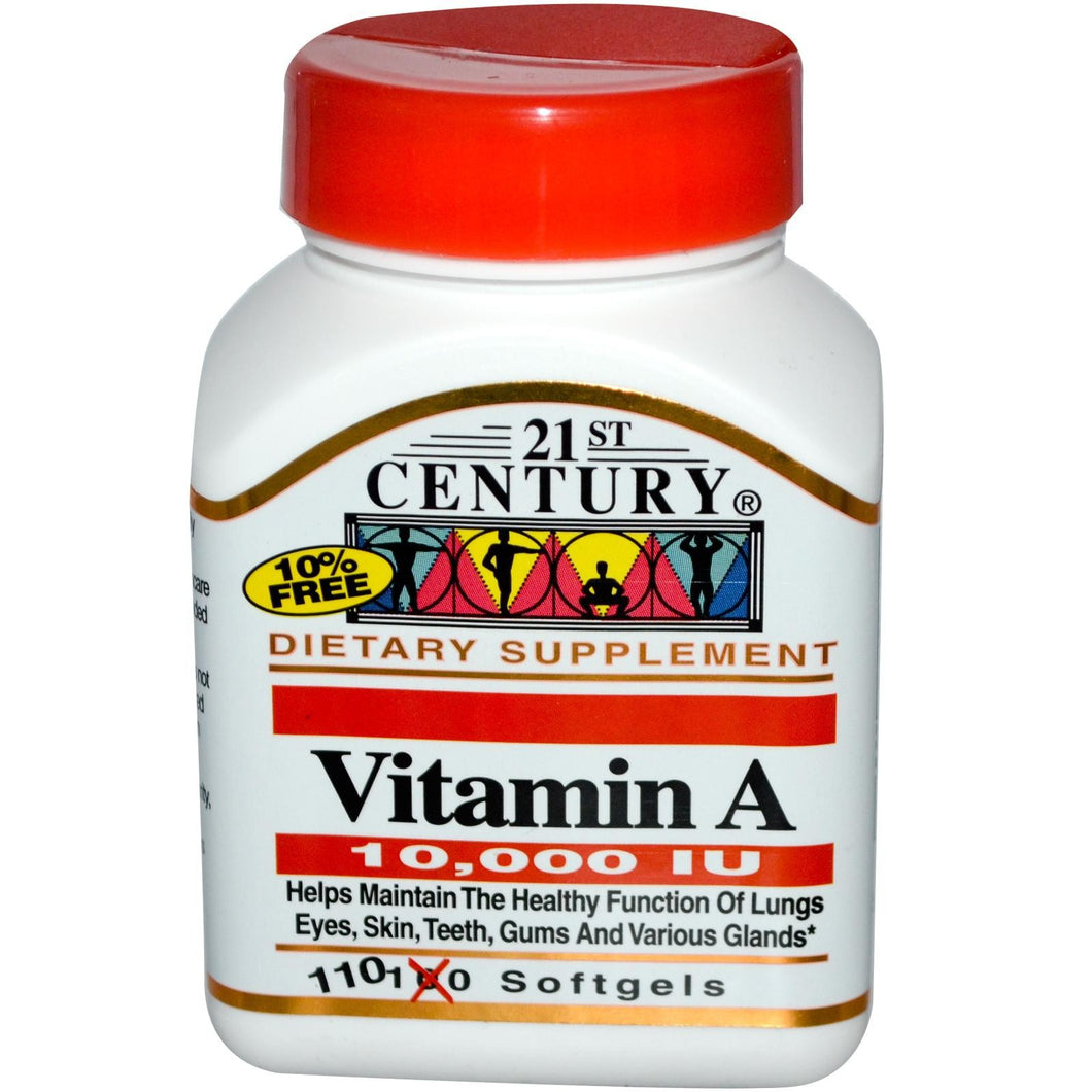 21st Century Health Care, Vitamin A, 10,000 IU, 110 Softgels
