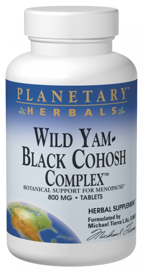 Planetary Herbals Wild Yam-Black Cohosh Complex 740 mg 120 Tablets