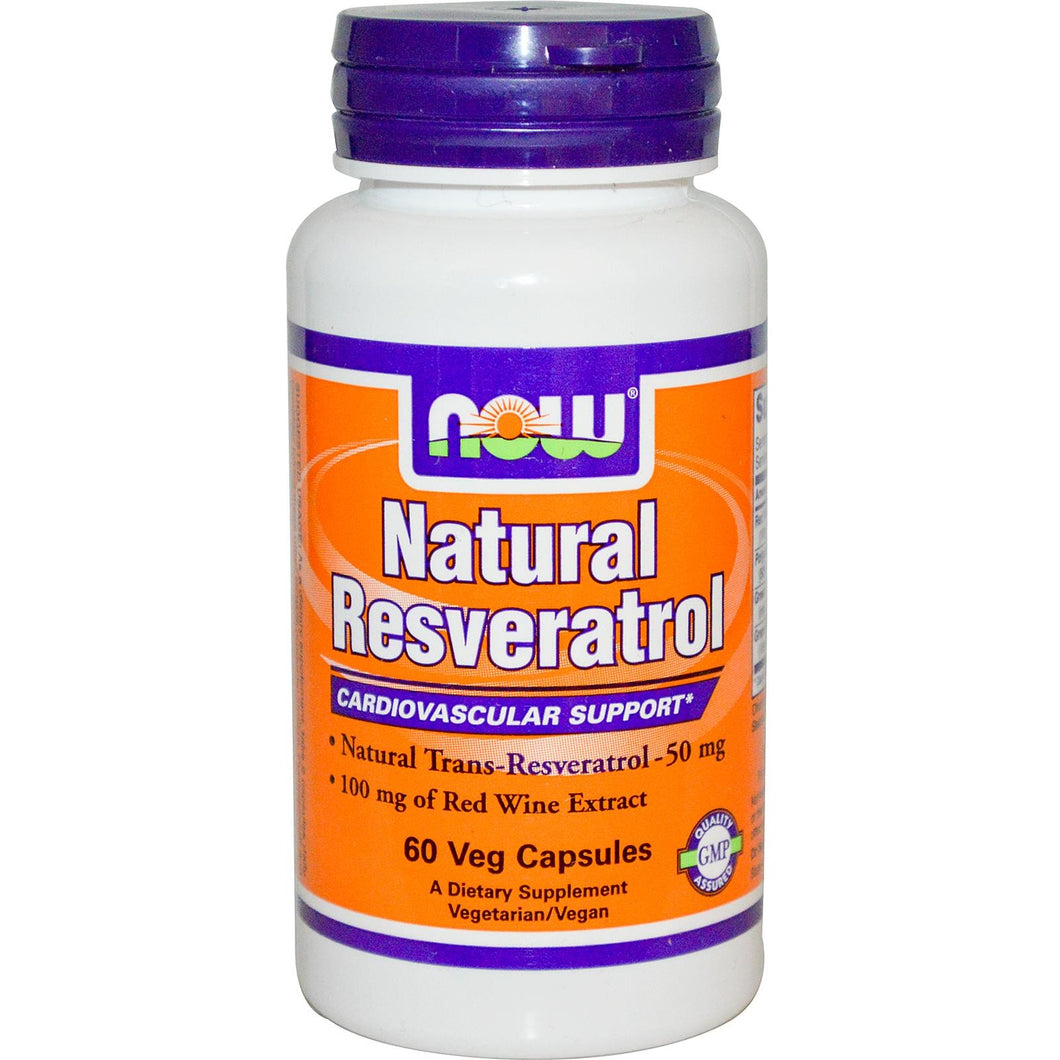 Now Foods, Natural Resveratrol, 50mg, 60 VCaps