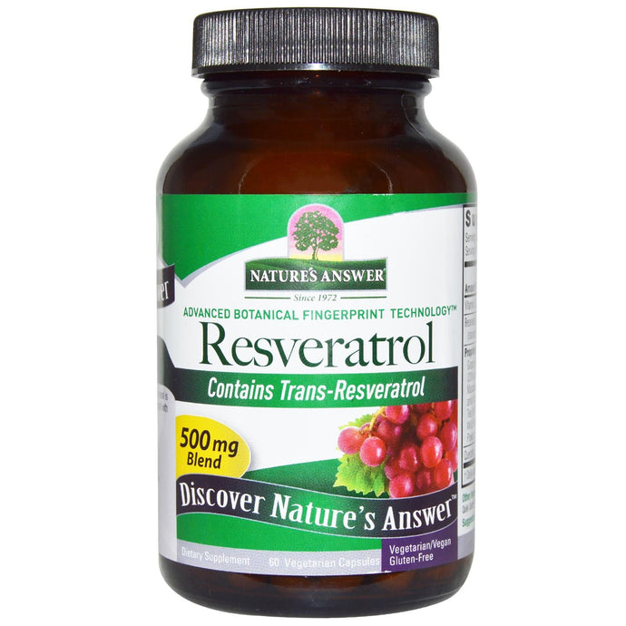 Nature's Answer Resveratrol 500 mg 60 Veggie Capsules