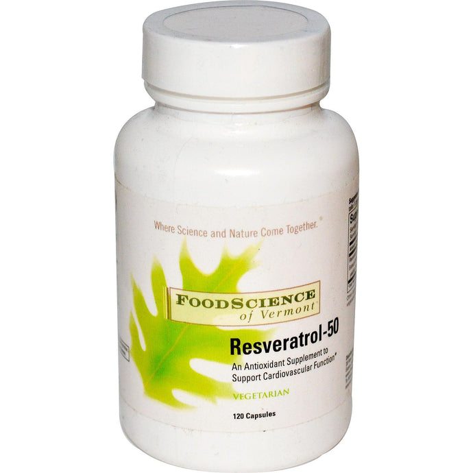 FoodScience Resveratrol-50 120 Capsules  - Dietary Supplement