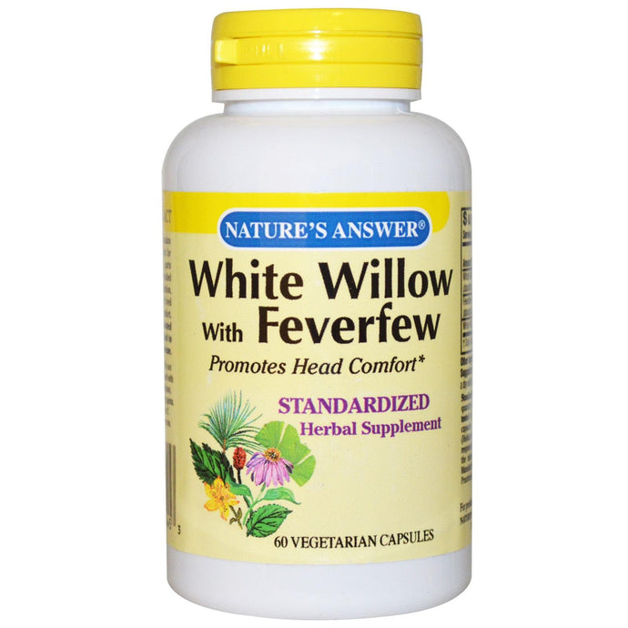 Nature's Answer White Willow with Feverfew 60 Veggie Capsules