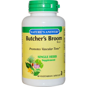 Nature's Answer Butcher's Broom Root 90 Veggie Capsules