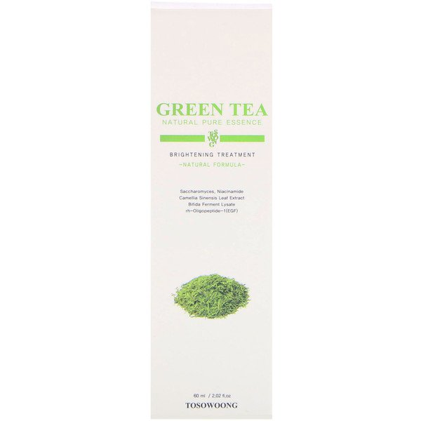 Tosowoong, Green Tea Natural Pure Essence, Brightening Treatment, 2.02 fl oz (60 ml)