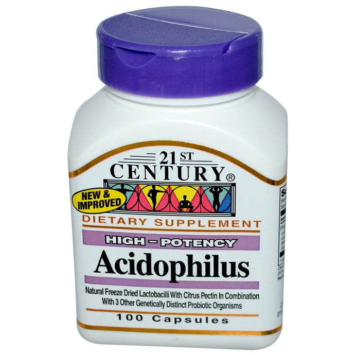 21st Century Health Care Acidopholis High Potency 100 Capsules