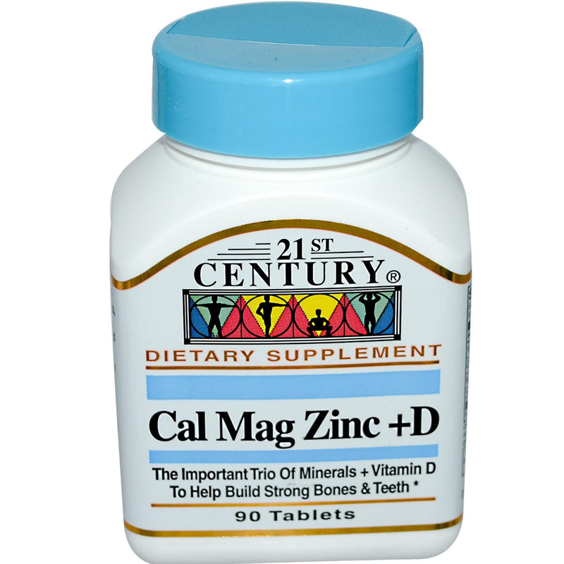 21st Century Health Care Cal Mag Zinc Plus D 90 Tablets