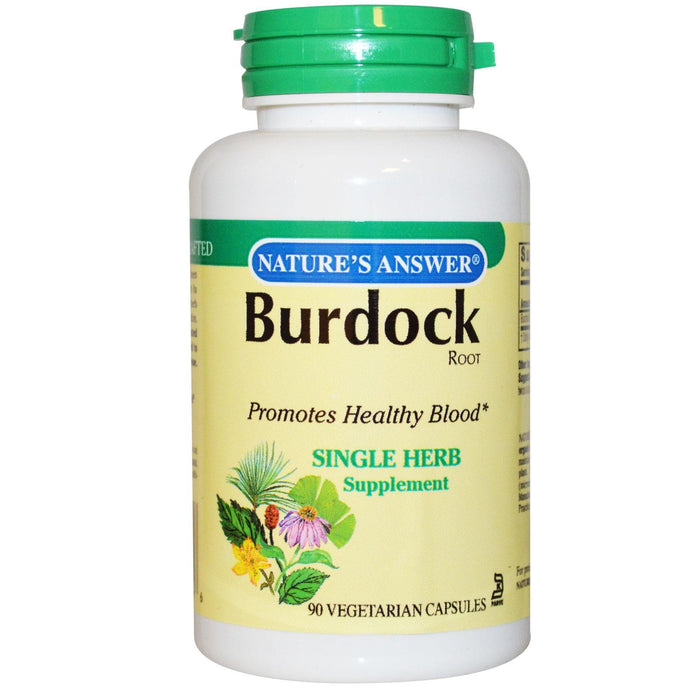 Nature's Answer Burdock Root 90 Veggie Capsules - Herbal Supplement