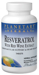 Planetary Herbals Resveratrol with Red Wine Extract 60 Tablets