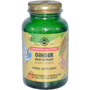 Solgar Ginger Root Extract 60 Veggie Capsules - Herbal Supplement