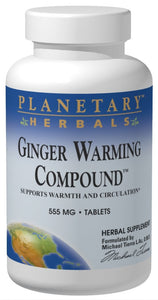 Planetary Herbals Ginger Warming Compound 555 mg 90 Tablets