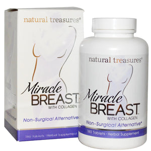 Natural Treasures, BNG, Miracle Breast, 180 Tablets - Supplement