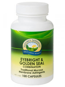 Nature's Sunshine Eyebright & Golden Seal Combination 100 Capsules