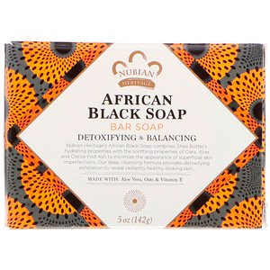 Nubian Heritage African Black Soap Bar 141 g - Vitamin Supplement