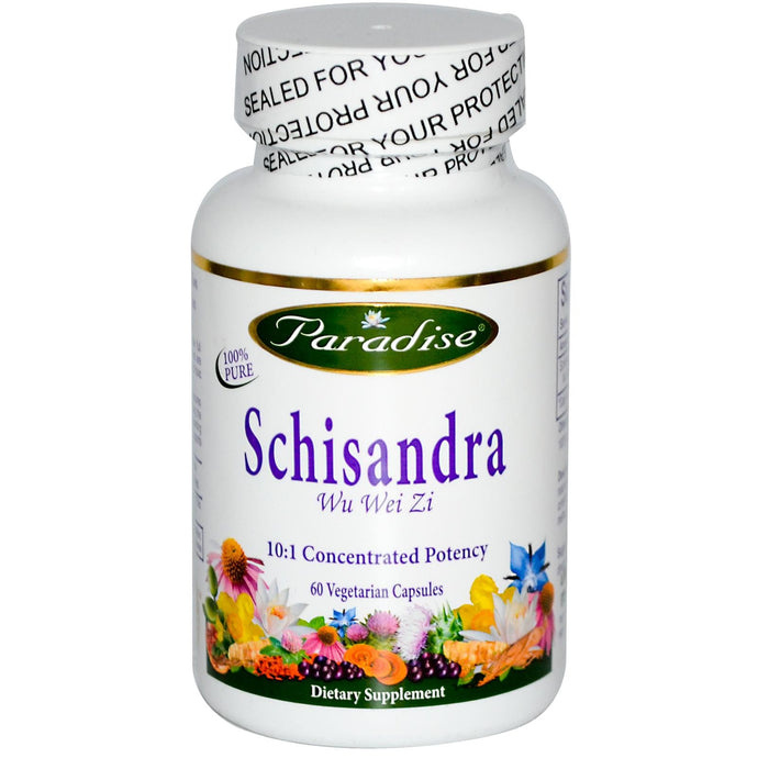 Paradise Herbs Schisandra 60 Veggie Capsules - Dietary Supplement