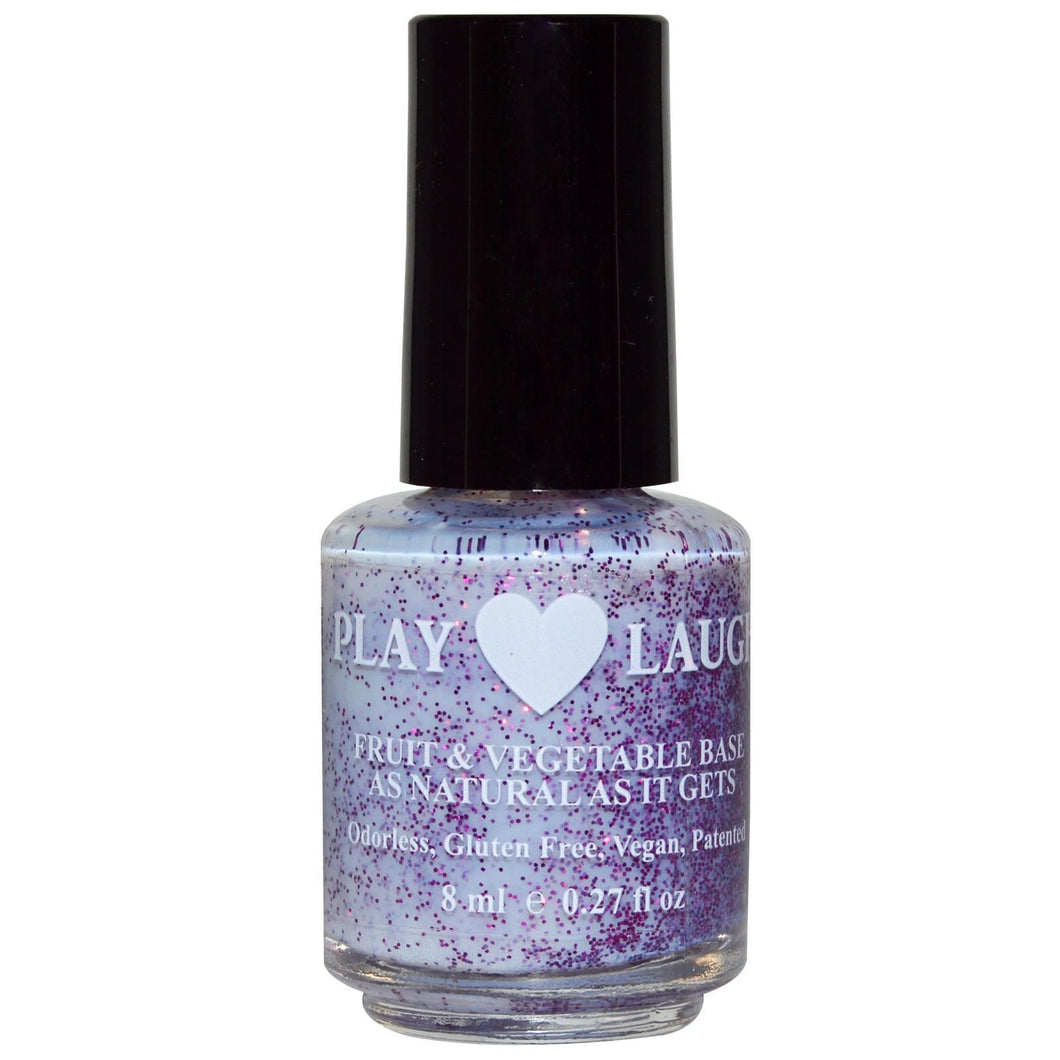 Hugo Naturals Nail Polish Purple Fairy Twinkle - As Natural As It Gets 8 ml 0.27 fl oz