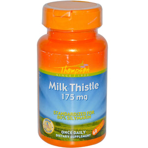 Thompson Milk Thistle 175 mg 60 Veggie Capsules - Dietary Supplement