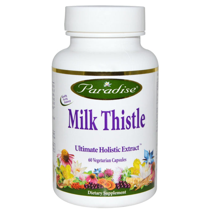 Paradise Herbs Milk Thistle 60 Veggie Capsules - Dietary Supplement