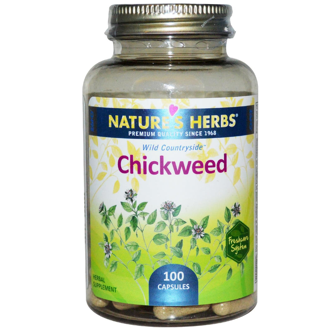 Nature's Herbs Chickweed 100 Capsules - Herbal Supplement