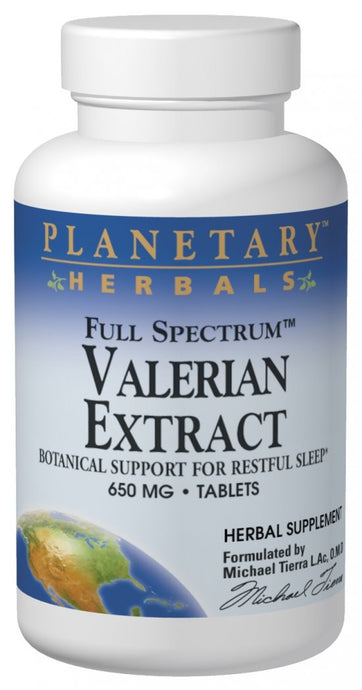 Planetary Herbals Valerian Extract Full Spectrum 650 mg 60 Tablets