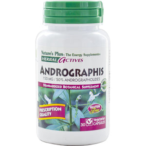 Nature's Plus Herbal Actives Andrographis 150 mg 30 Veggie Capsules