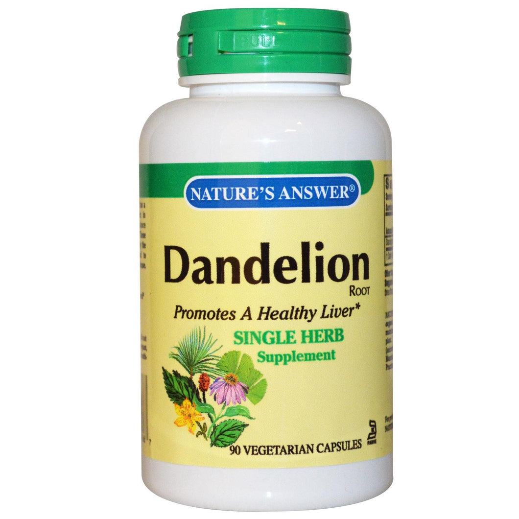 Nature's Answer Dandelion Root 90 Veggie Capsules
