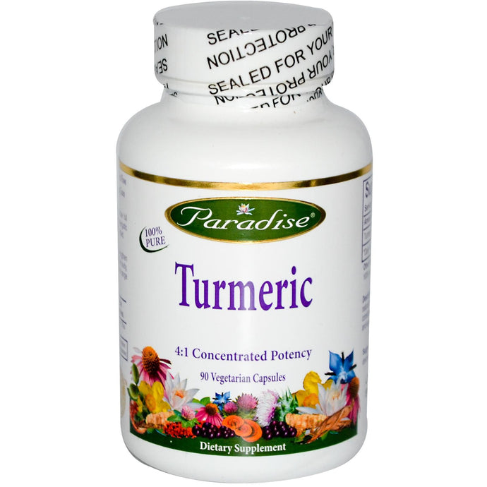 Paradise Herbs Turmeric 90 Veggie Capsules - Dietary Supplement