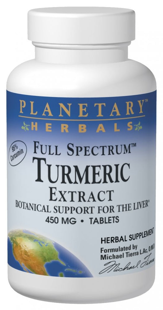 Planetary Herbals Full Spectrum Turmeric Extract 450 mg 60 Tablets