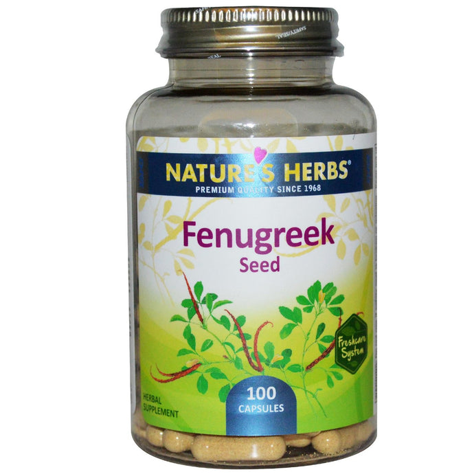 Nature's Herbs Fenugreek Seeds 100 Capsules - Dietary Supplement