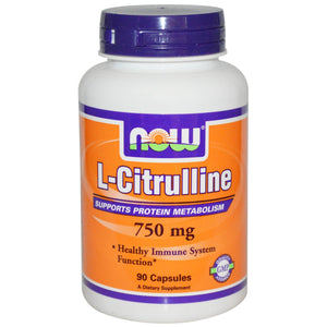 Now Foods L-Citrulline 750mg 90 Capsules - Dietary Supplement
