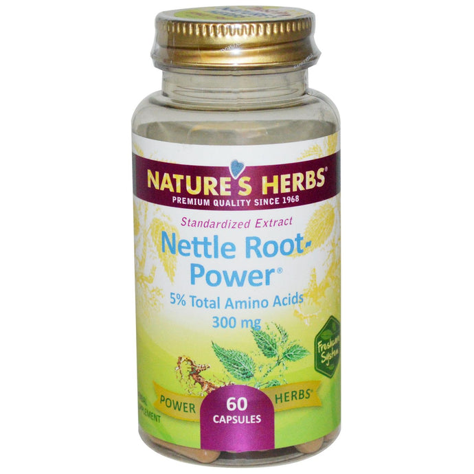 Nature's Herbs Nettle Root-Power 300 mg 60 Capsules