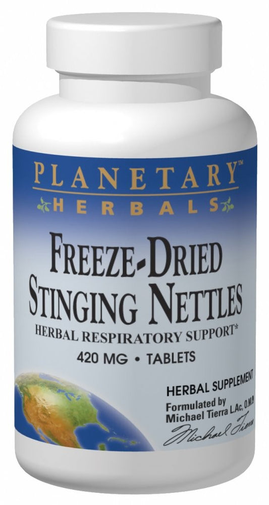 Planetary Herbals Freeze-Dried Stinging Nettles 420 mg 60 Tablets