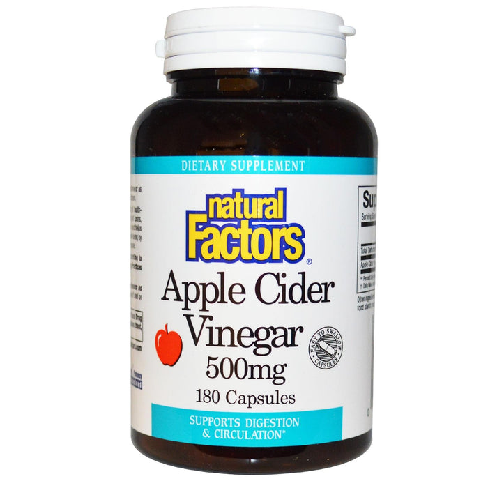 Natural Factors Apple Cider Vinegar 500 mg 180 Capsules