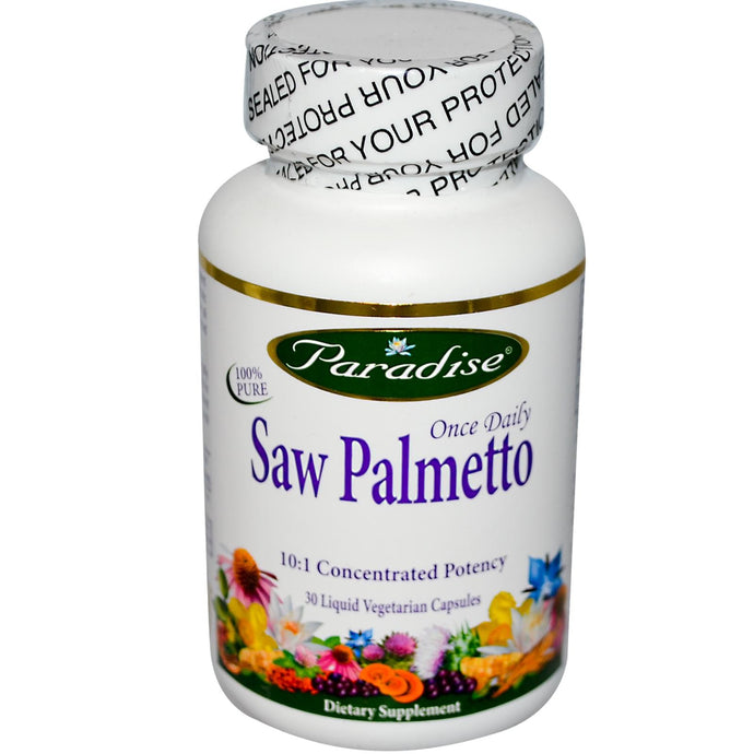 Paradise Herbs Once Daily Saw Palmetto 30 Liquid Veggie Capsules