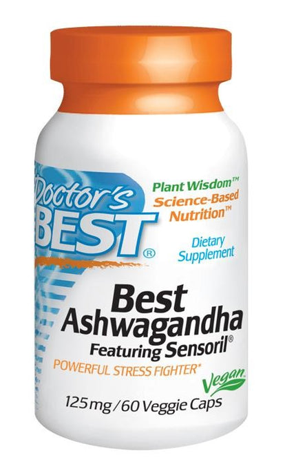 Doctor's Best, Ashwagandha, Featuring Sensoril, 125mg, 60 VCaps