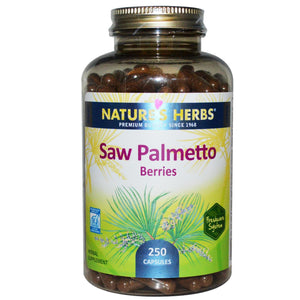 Nature's Herbs Saw Palmetto Berries 250 Capsules - Herbal Supplement