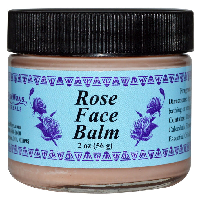 WiseWays Herbals LLC Rose Face Balm 56 g 2 oz - Herbal Supplement