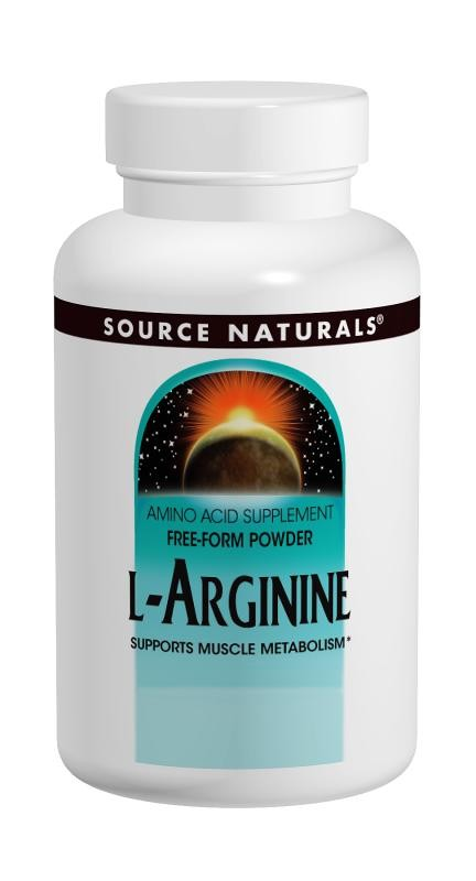 Source Naturals L-Arginine 100 g 3.53 oz - Amino Acid Supplement