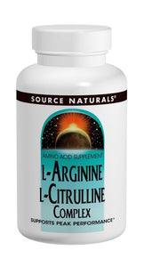 Source Naturals L-Arginine L-Citrulline Complex 1000 mg 120 Tablets