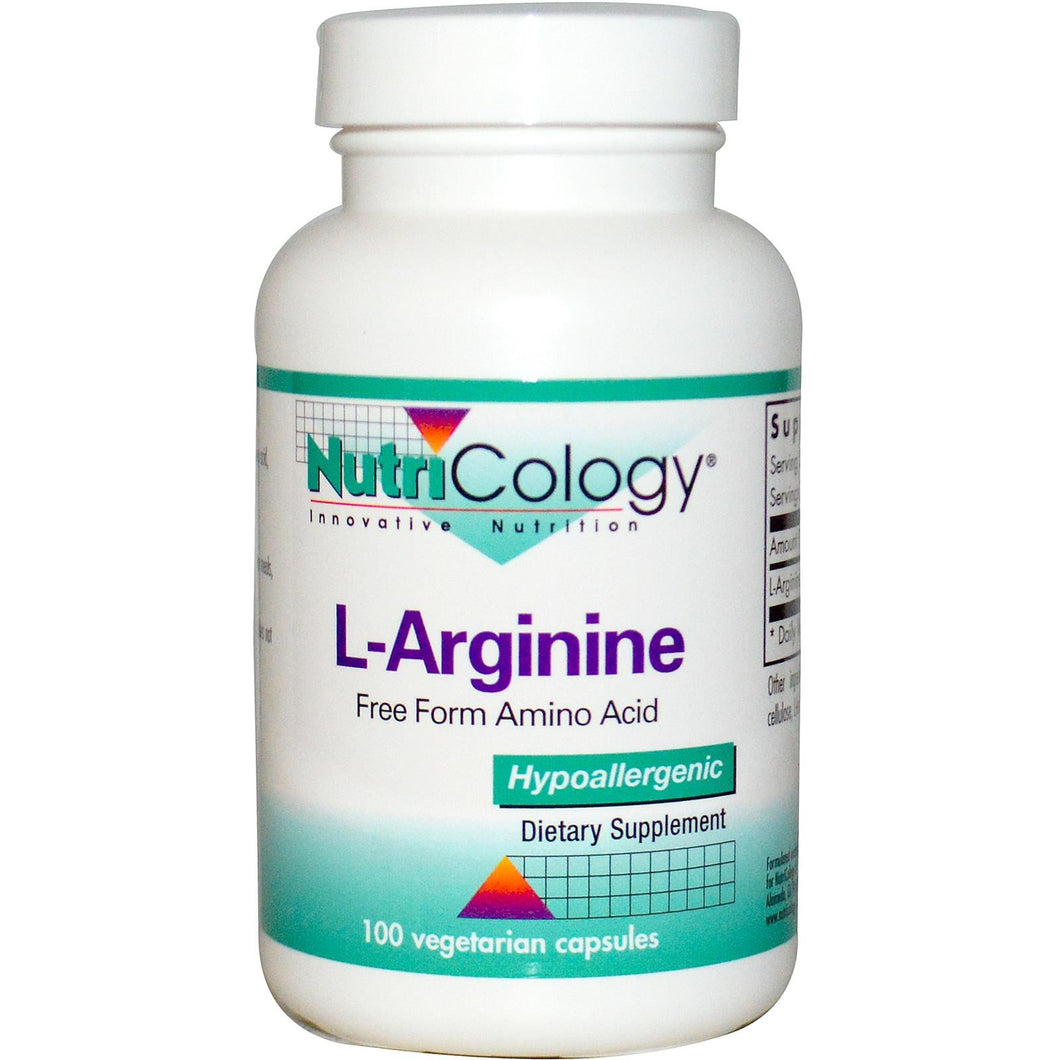 Nutricology L-Arginine 100 Veggie Capsules - Dietary Supplement
