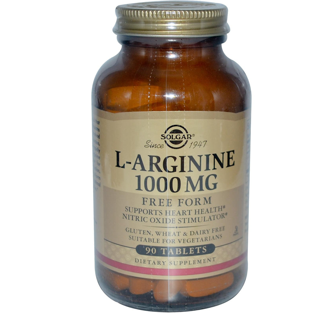 Solgar L-Arginine 1000 mg 90 Tablets - Dietary Supplement