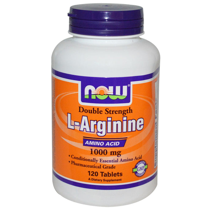 Now Foods L-Arginine 1000 mg 120 Tablets - Dietary Supplement